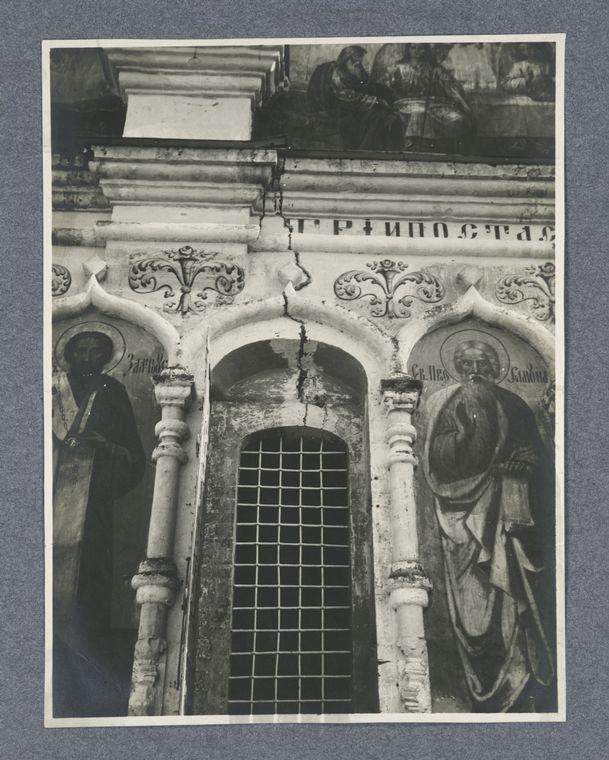 Naruzhnaia severnaia stena sobora do remonta