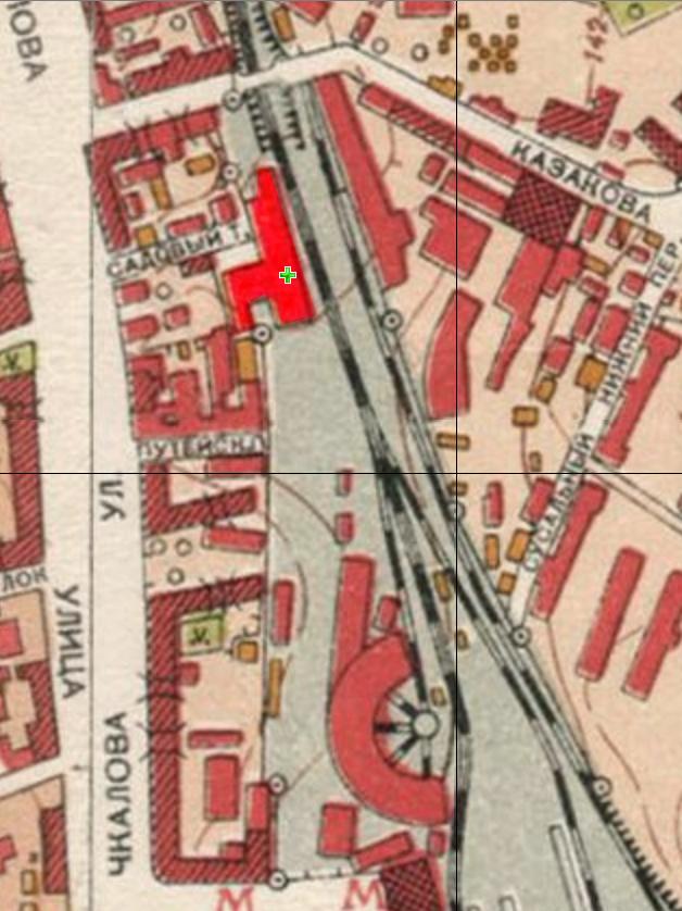 Депо на карте 1952