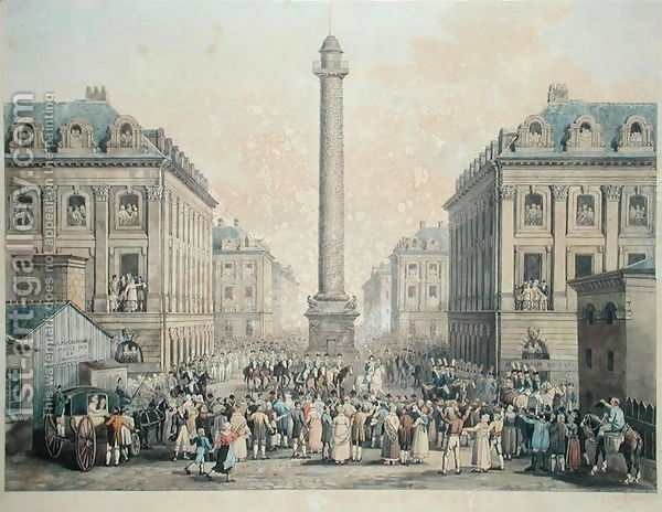 Charles-Ferdinand-De-France-1778-1820-Duc-De-Berry-Returning-To-The-Tuileries-Through-The-Place-Vendome,-1814