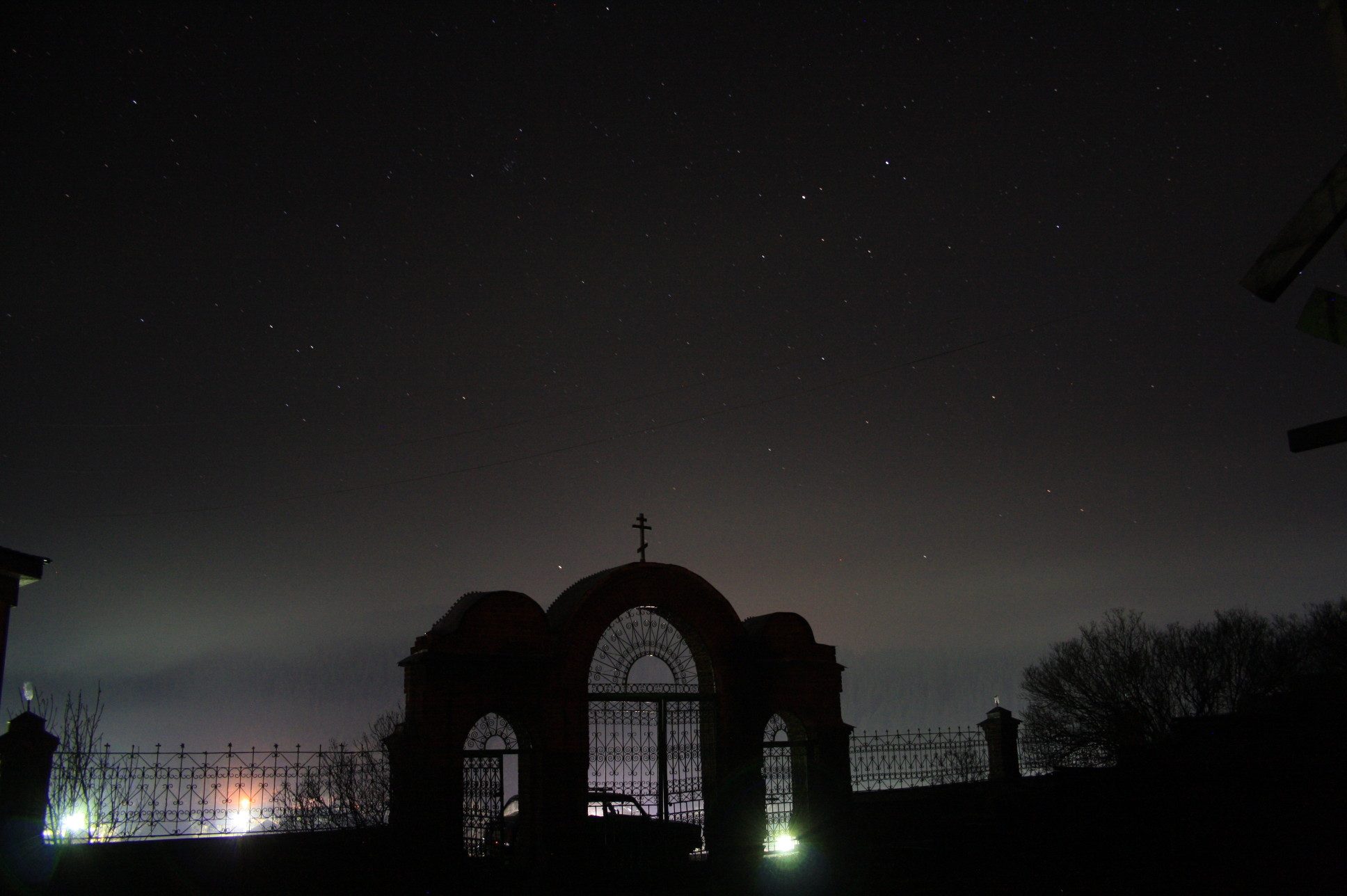 Кага Пасха Ночное небо над селом