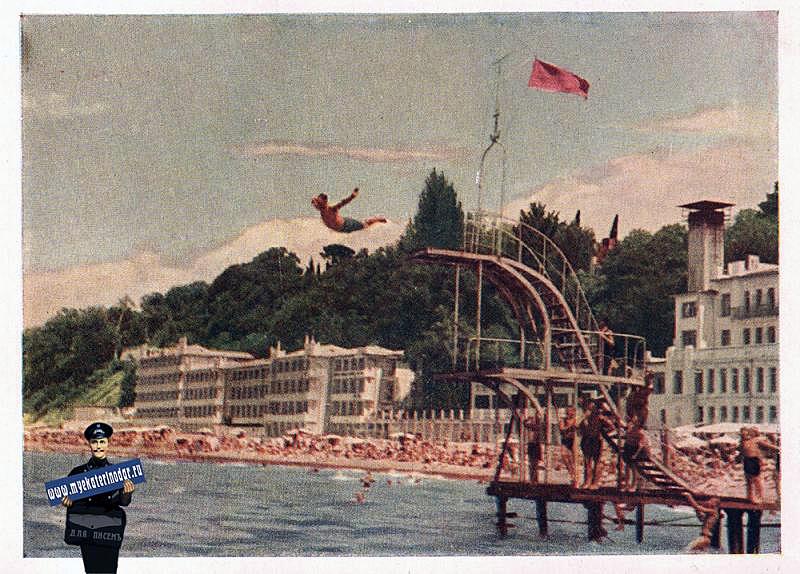 sochi-sochi-plyazh-u-sanatoriya-rivera-1956-god