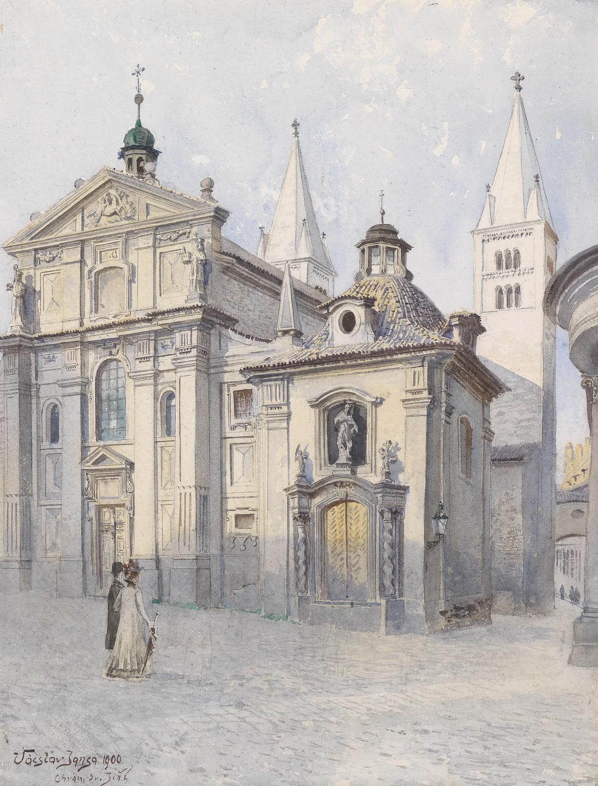 09 Vaclav_Jansa_Georgsbasilika_Prag_1900