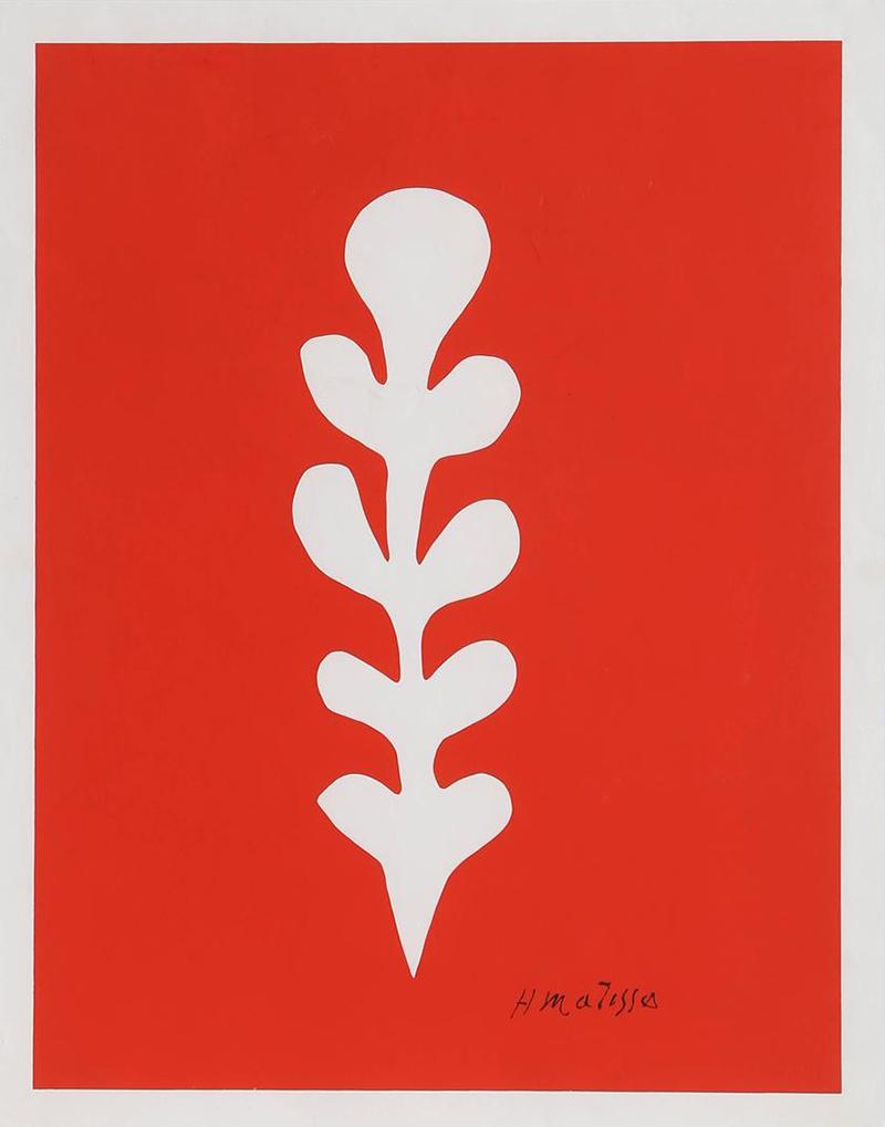 Matisse_Palme_Blanche_sur_Fond_Rouge_FRamed_z
