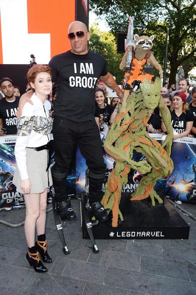 Vin Diesel and Karen Gillan1