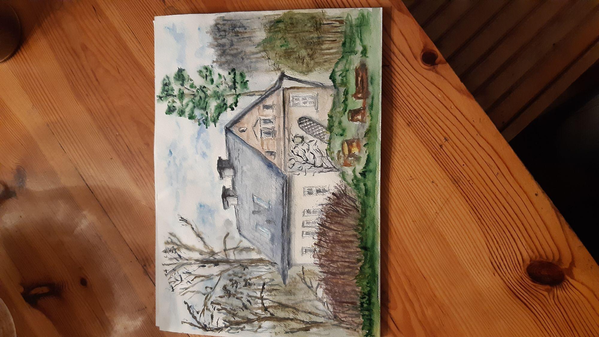Это наш домик, вчера рисовали