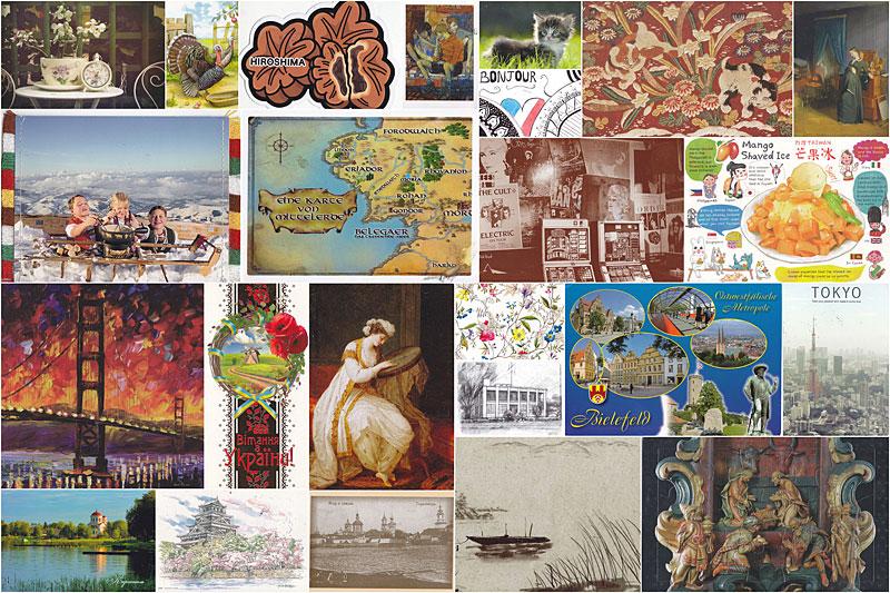 Коллекция открыток из путешествий, днем