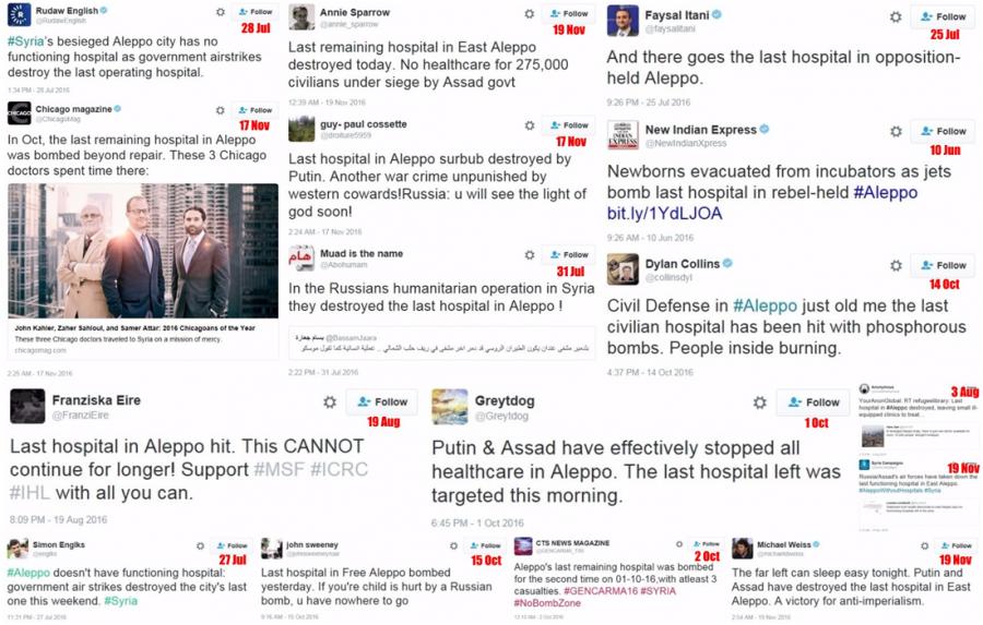 Путина и Асада обвиняют в уничтожении госпиталей в Алеппо