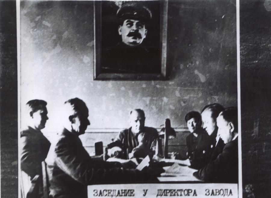 Заседание у директора часового завода Лукьянова