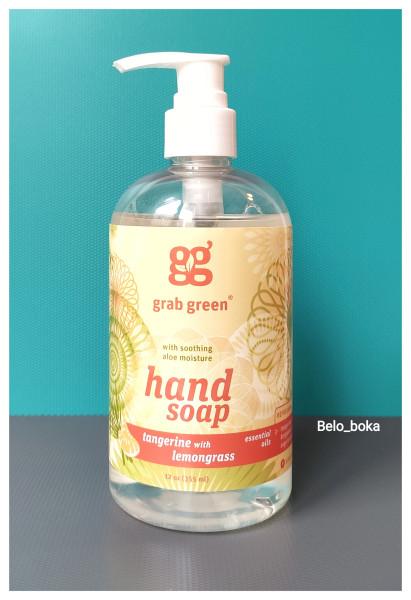 Grab Green, Мыло для рук, мандарин и лемонграсс
