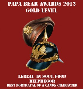 Papa Bear Awards 2012 - Best Canon Character - Gold