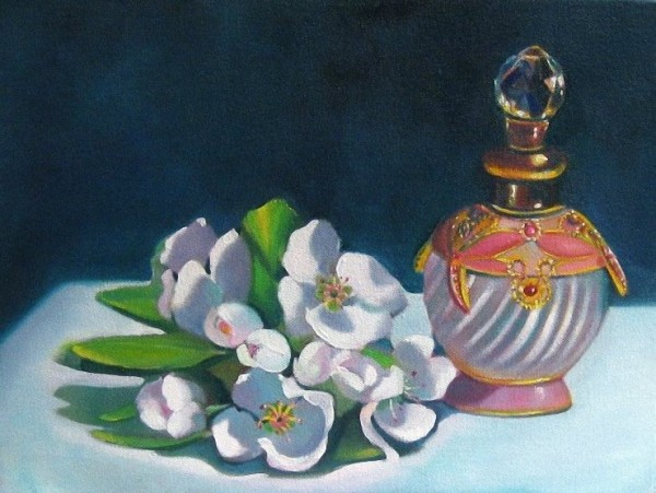Linda McCoy Pear Blossoms and Perfume.