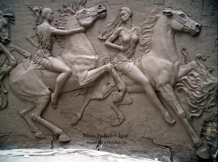 Горельеф с лошадьми игорь белов