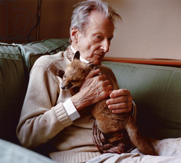 11-8, Lucian with fox cub, 2005