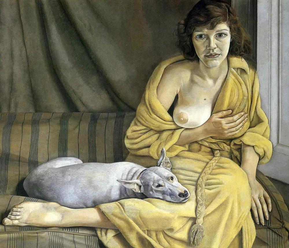 001_Девушка с белым псом