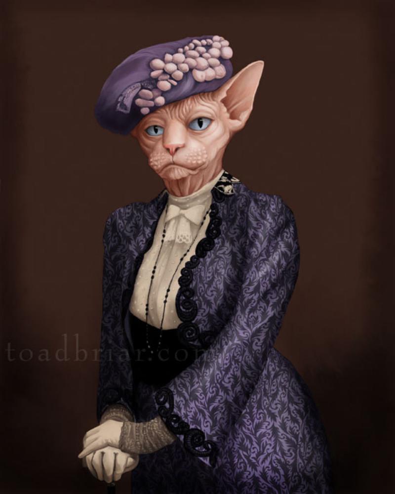 01_Виолетта, вдовствующая графиня Грэнтэм