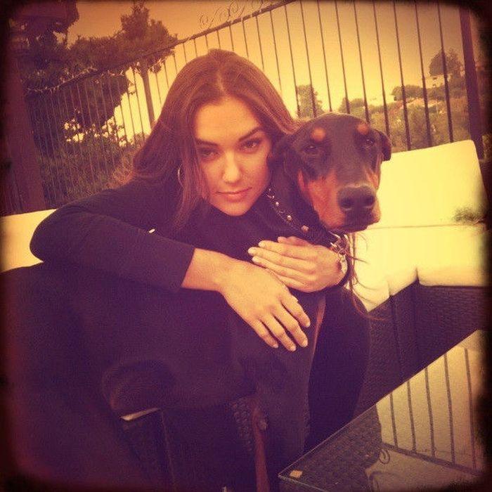 Sasha Grey and her dog MacReady