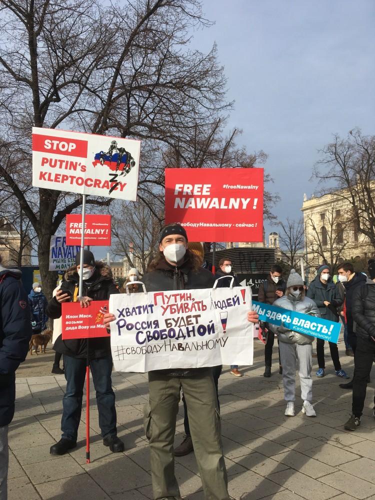 Free Navalny : Platz Der Menschenrechte, Wien (31.01.21)
