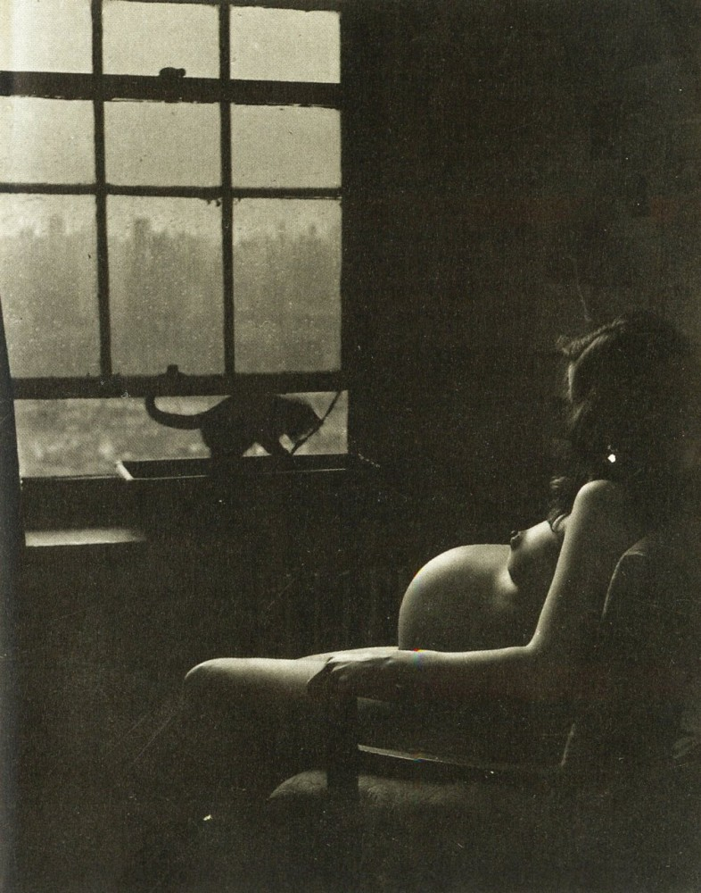 by-philippe-halsman-pregnant-woman-cat-1950