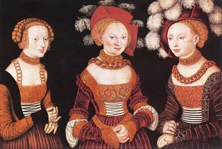 Three saxon princesses on the marriage market, wearing their dowries