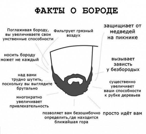 плюсы ношения бороды