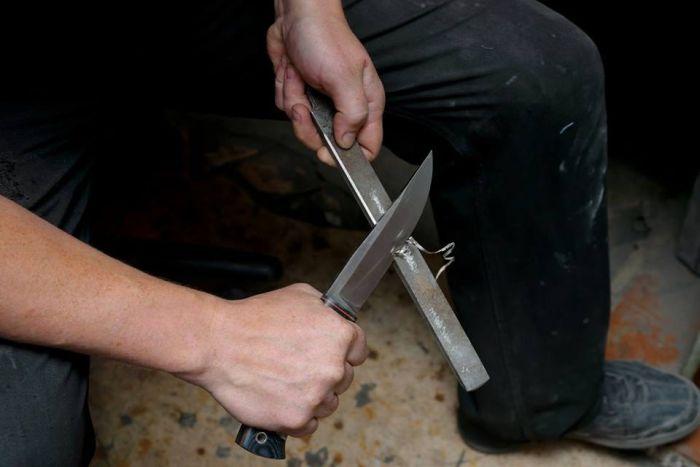Необычные ножи из металлических предметов