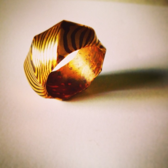 Самодельное кольцо по технологии Мокумэ Ганэ