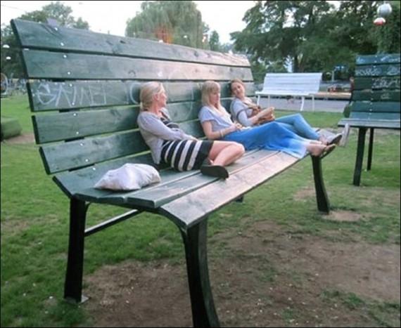 креативные фото в парке