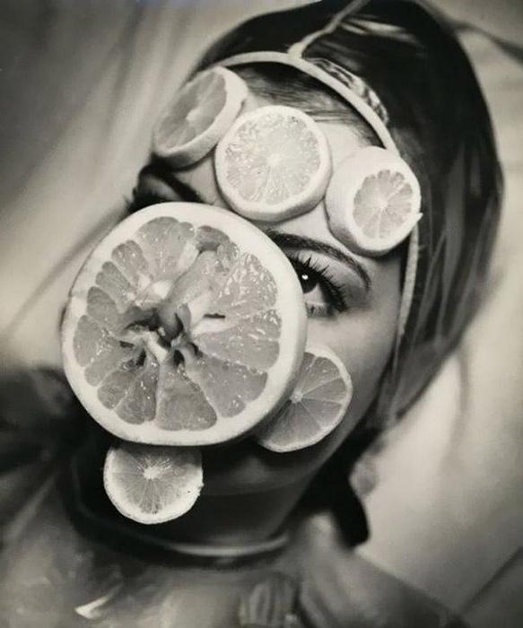 Маска из лимонов