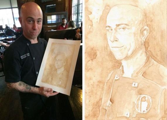 Портреты, нарисованные пивом