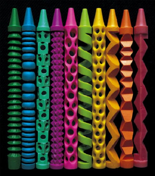 Резьба по цветным мелкам