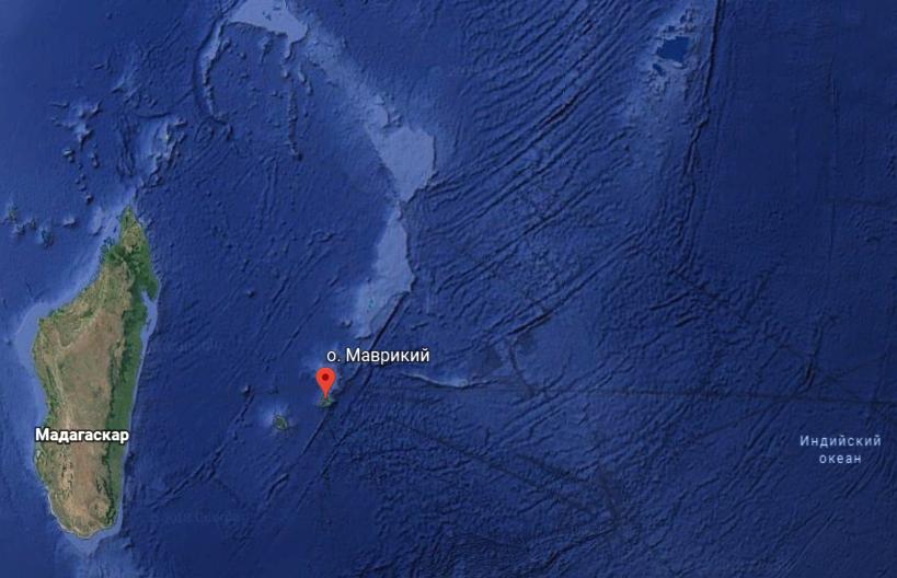 место крушения mh370
