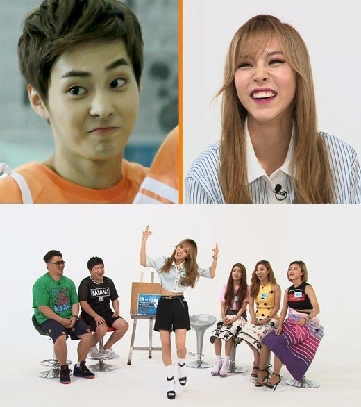 """MAMAMOO's Moonbyul reacts to comments that she resembles EXO's Xiumin on """"Weekly Idol"""""""