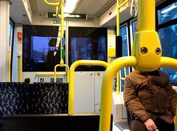 пришелец в транспорте