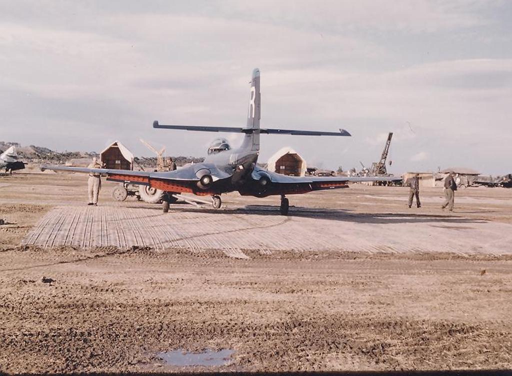 F2H-2BansheeaircraftofVF-172onthegroundatK-1inKorea-1