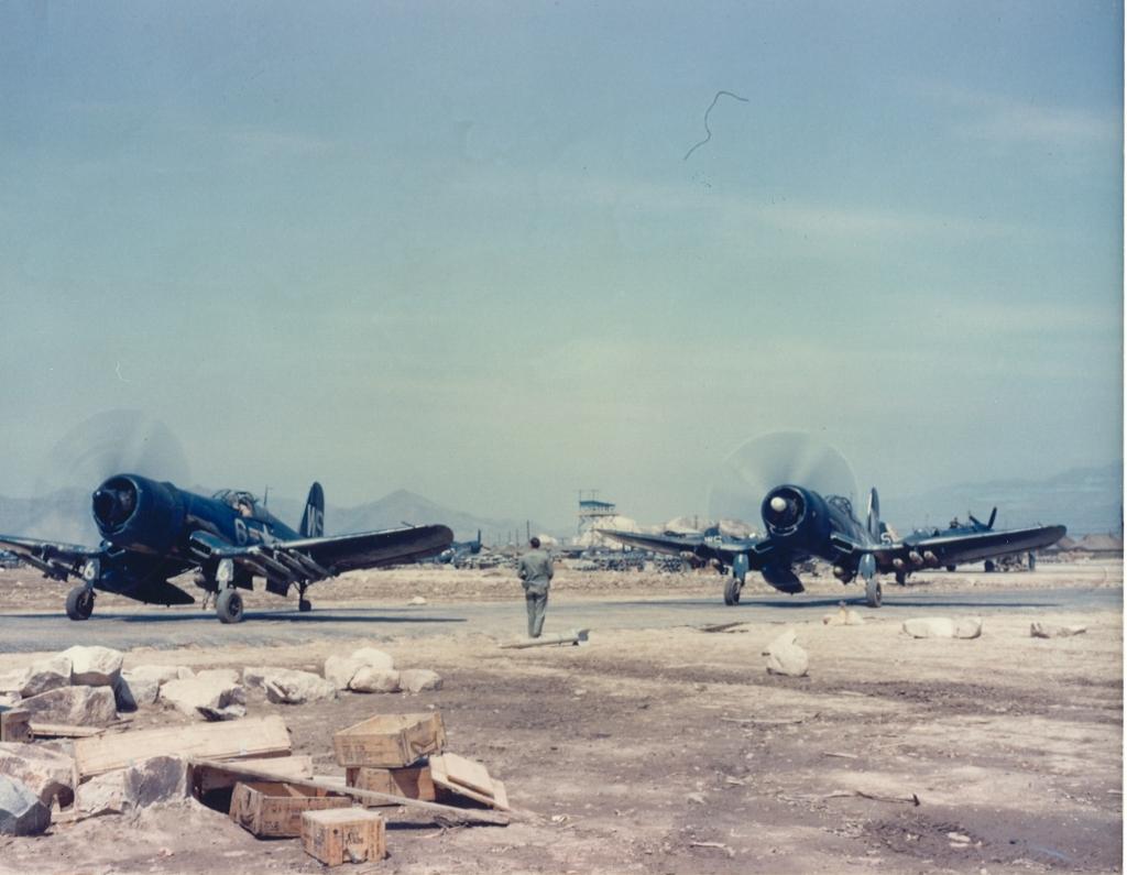 F4U-4CorsairaircraftofVMF-323atK-1PusanKorea
