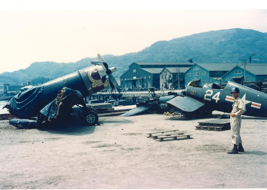 F4U-4CorsairaircraftofVMF-323atthegraveyardatMCASSaseboJapan
