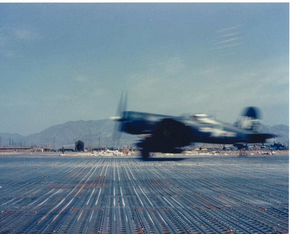 F4U-4CorsairaircraftofVMF-323takingoffatK-1PusanKorea-1