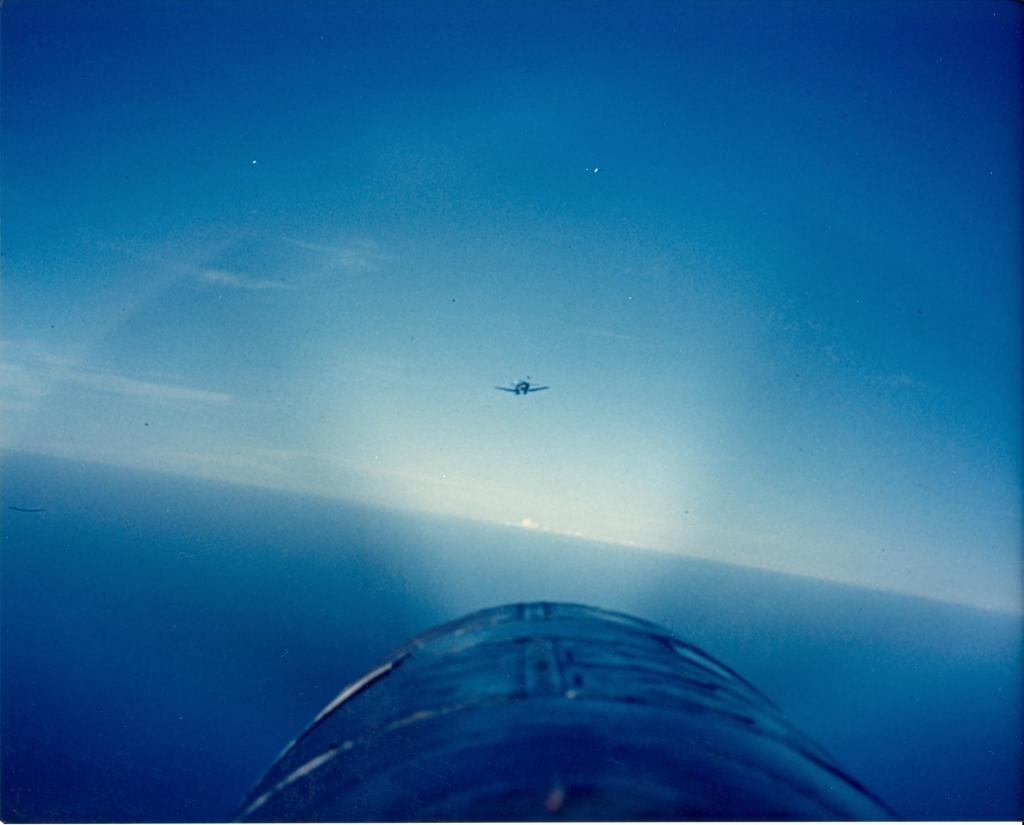 F4U-4CorsairofVMF-323isinflightoverSouthKorea