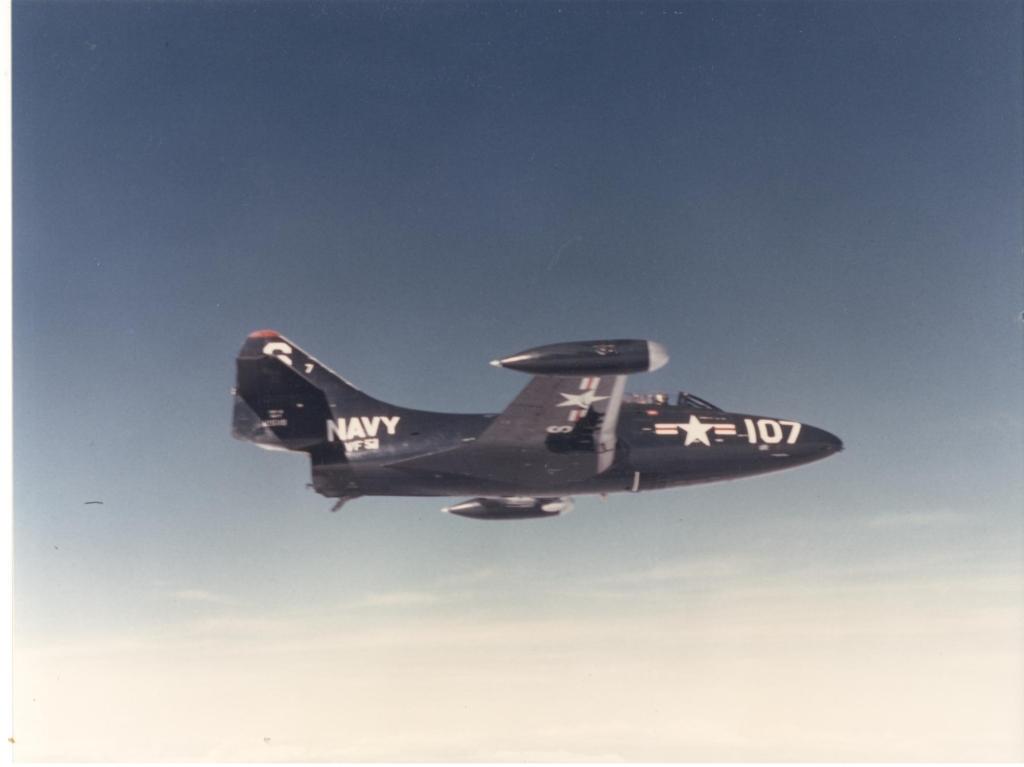 F9F-2PantheraircraftofVF-51fromtheUSSEssexCV-9isinflightnearoroverKorea