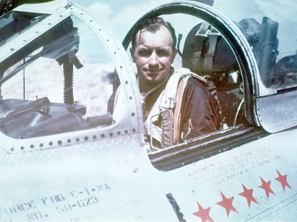 F-86E-ColHarrisonRThyng-4Th-FIW