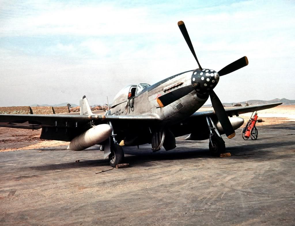 45thTRSPolkaDotSquadronRF-51DMustangKimpo1952