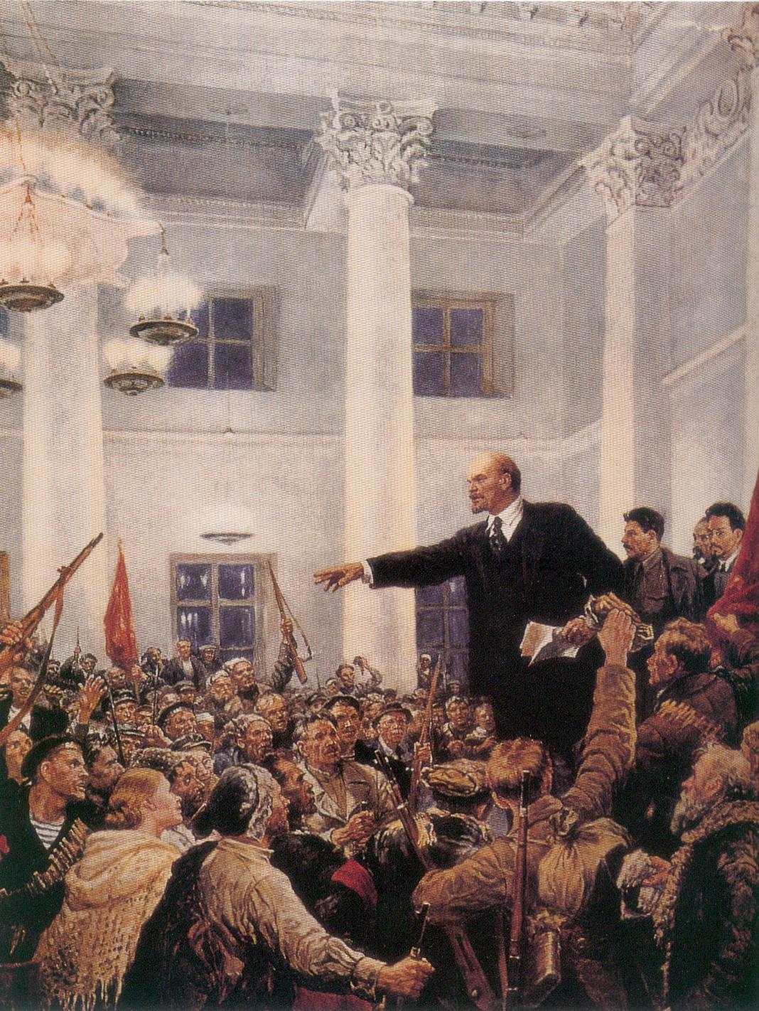 Серов - Ленин провозглашает советскую власть на 2-м съезде Советов (1947)