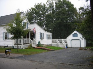 House, deck, and garage