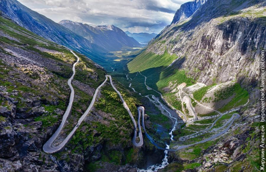 Дорога через Лестницу Троллей и Дорогу Орлов к Гейрангер-фьорд