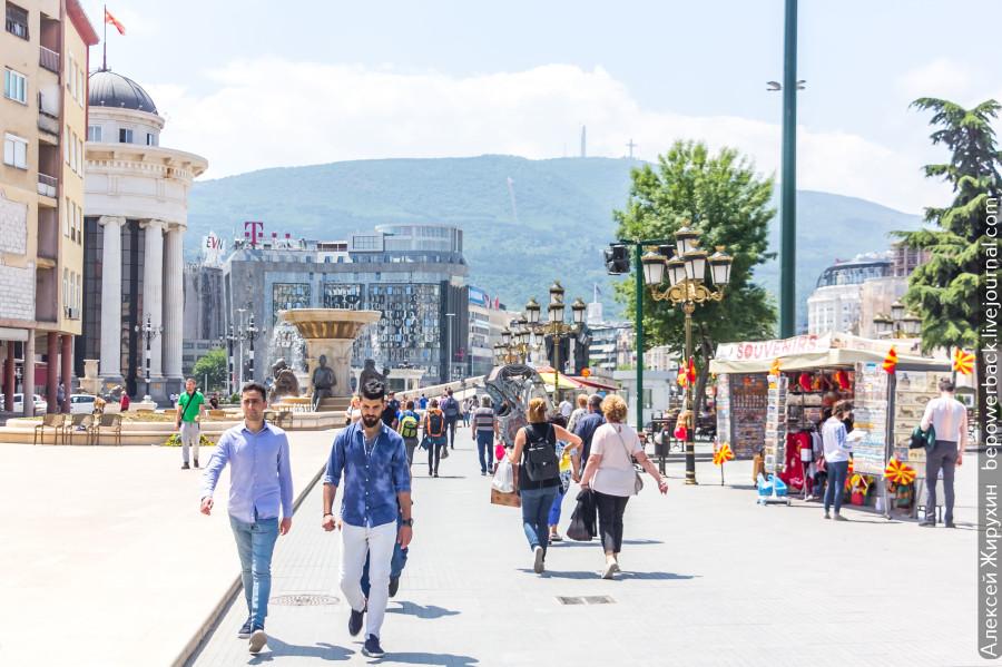 Скопье - город статуй