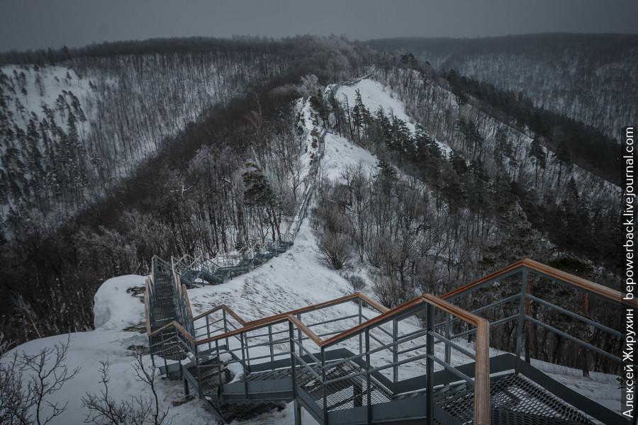 Зимой на гору Стрельная в Жигулевском заповеднике