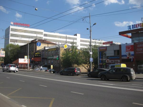 Вид чётной стороны Большой Семоновской улицы близ м. Электрозоводская (1)