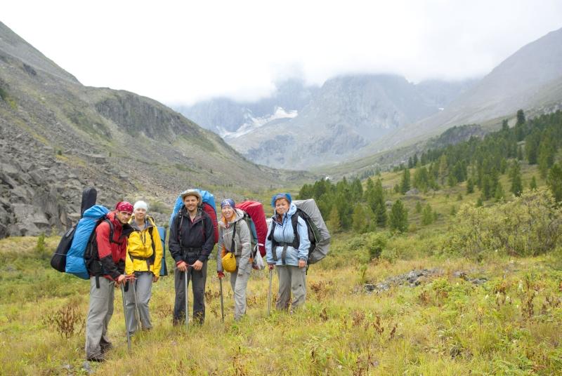 Группа в долине реки Акчан