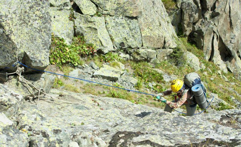 Последние метры поъема на перевал Детский