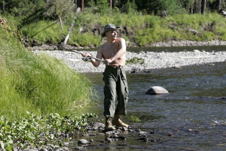 все фото путина на рыбалке